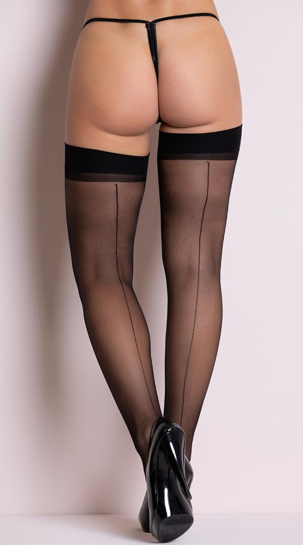 Womens Sheer Back Seamed Footed  Stockings by Leg Avenue