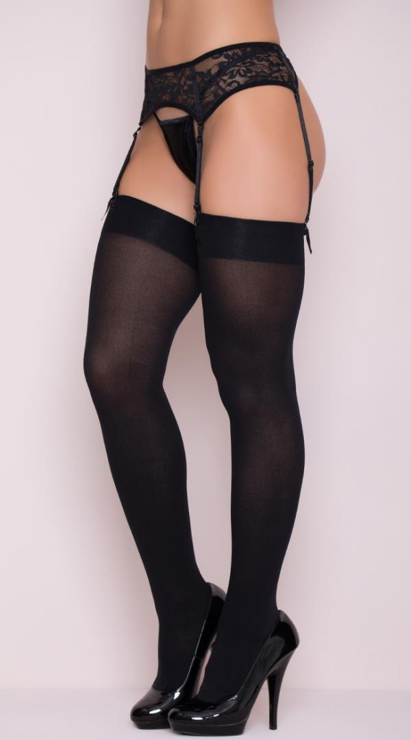 Womens Nylon Opaque Footed Knee High  Stockings by Leg Avenue