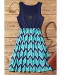 Short Zig Zag Print Dress
