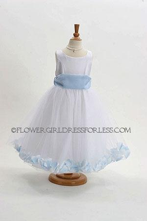 Girls Flower-Girl Dress With a Sash