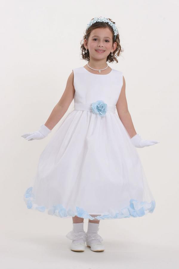 Girls Sleeveless  Flower(s) Flower-Girl Dress