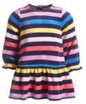 Toddler Striped Print Long Sleeves Dress